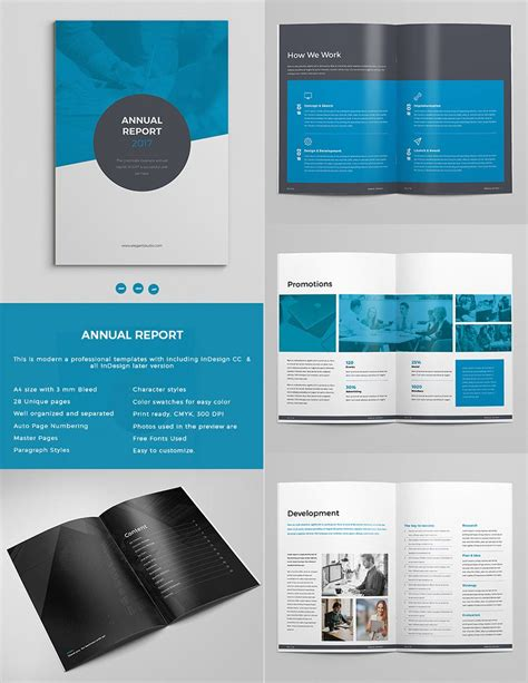 free business template indesign bold annual report template indesign design set graphic
