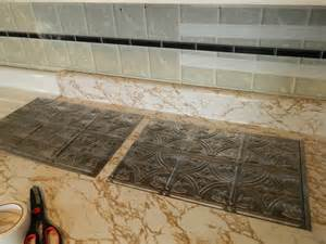 plastic kitchen backsplash diy 5 steps to kitchen backsplash no grout involved