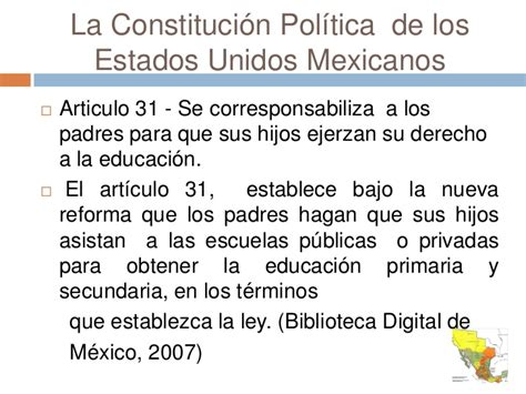articulo de la constitucion que habla de los derechos educacion en mexico presentacion original