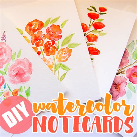 watercolour cards diy diy watercolor note cards daily