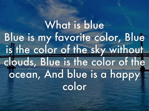 my favorite color is blue what is blue by o19 thomcoop