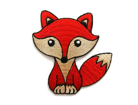 imagenes animados de zorros red wolf fox cartoon embroidered applique iron on patch 7 5
