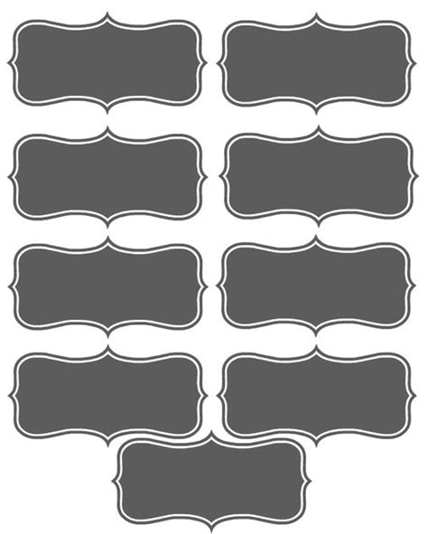printable chalkboard stickers make your own printable place cards printable place