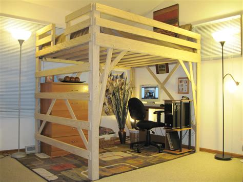 Lofted Bed by Plywood Loft Bed