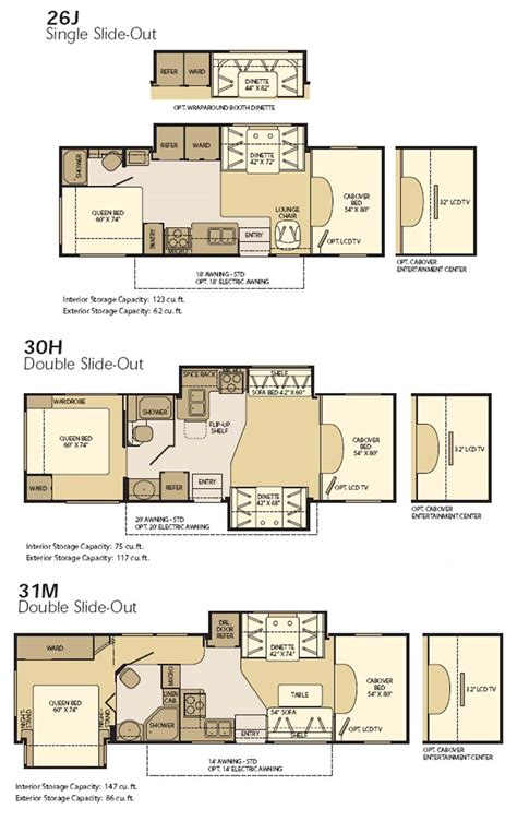 motor home floor plans fleetwood motorhome floor plans home review