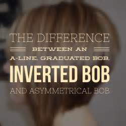 what is the difference in bob haircuts the difference between an a line graduated bob inverted