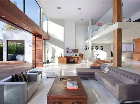interior exterior plan large and stylish living room open plan contemporary home in beverly hills homedsgn