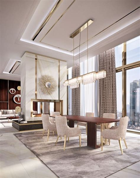 luxury dining room 25 best my dubai interior design images on