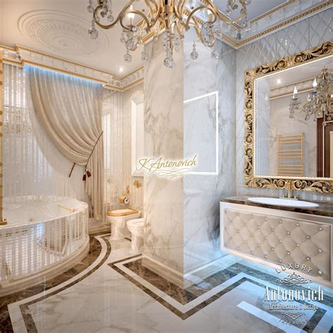 Luxurious bathroom interior design