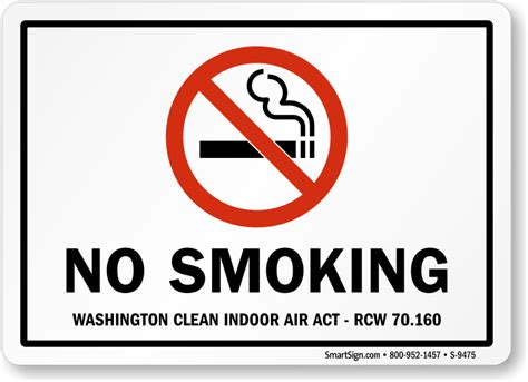 No Smoking Sign Texas | washington no smoking signs no smoking signs by state