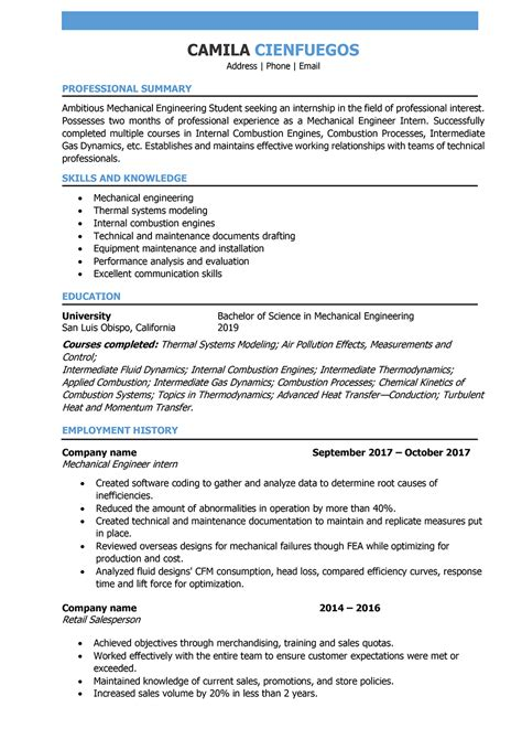 adorable mechanical maintenance engineer resume sample with