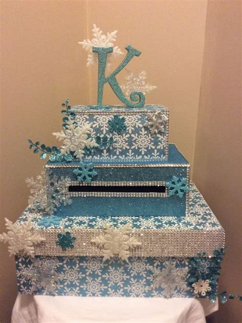quinceanera themes for winter winter wonderland snowflake card box for weddings sweet