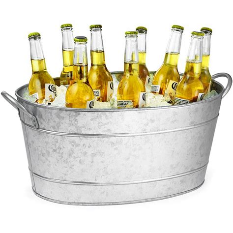 beer bathtub galvanised steel oval beverage tub party tub drinks