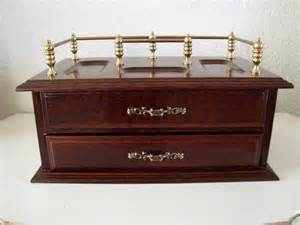 vintage mens dresser valet mens wooden jewelry box with two