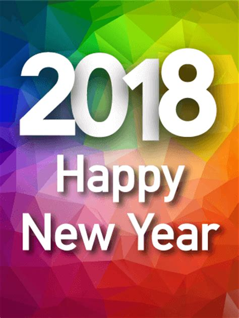 new year 2018 where to go colorful rainbow happy new year card 2018 birthday