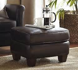 sullivan leather square ottoman sullivan leather square ottoman pottery barn