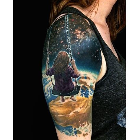 swing set tattoo 25 best ideas about outer space tattoos on pinterest