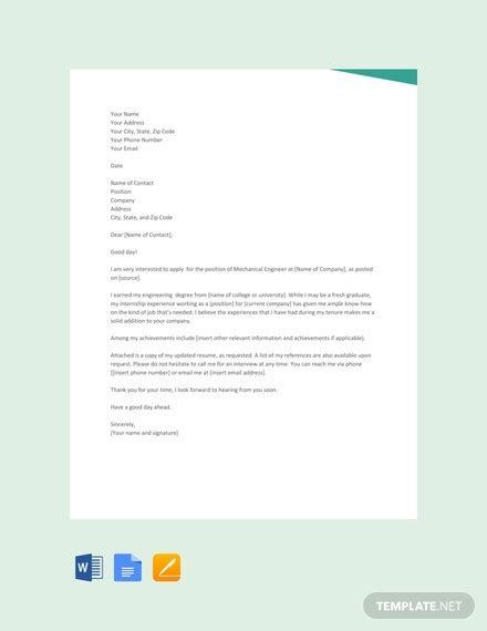 cover letter templates word google docs