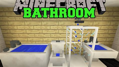 how to build a bathroom in minecraft minecraft bathroom toilet shower bathtub sink more mod showcase youtube