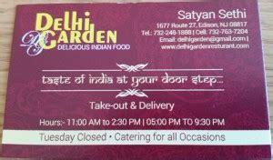 Delhi Garden Edison Nj by Business Card Redesign Delhi Garden