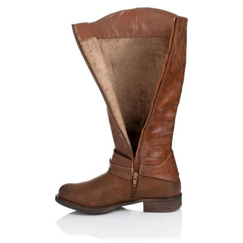 buy graphyk flat knee high boots brown leather style