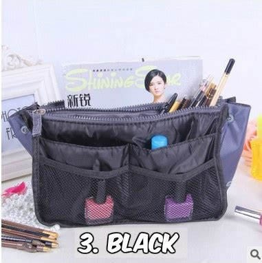 Ready Stock Gelang Carry multicompartment dual zip in bag organizer easy carry bag pouch multipurpose storage bag ready