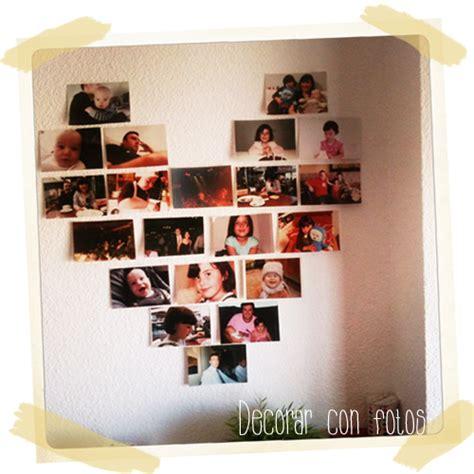 ideas para decorar paredes con fotos de una forma creativa