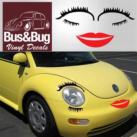 volkswagen eyelash vw eyelashes vw bug eyelashes and lips beetle vw