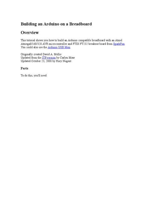 Arduino Breadboard | Arduino | Power Supply