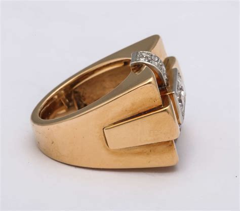 1940s gold bridge ring for sale at 1stdibs