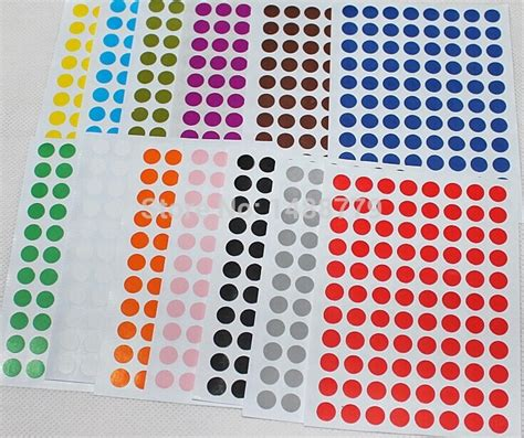 color stickers lovely stickers color dot label paper more than8 mm