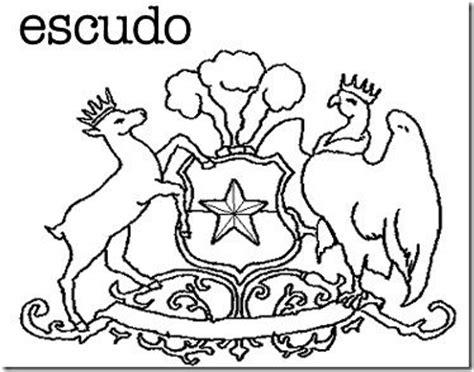 imagenes de simbolos dibujos para colorear smbolos patrios de chile pintar