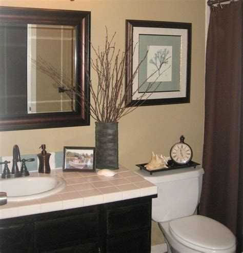 guest bathroom decor ideas guest bath makeover total cost 240 chocolate brown blue bathroom remodel