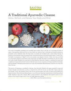 Magic Of Ayuverdic Detox Pdf by Traditional Ayurvedic Cleansing Banyan Botanicals