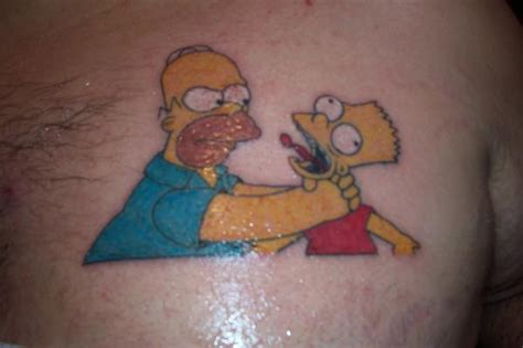 homer simpson tattoo vagina pin bart birthday cake topper pelautscom on