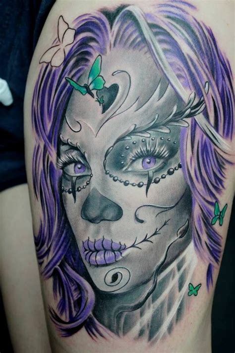 day of the dead face tattoos 35 day of the dead tattoos