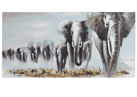 cuadros elefantes cuadro elefantes en manada 100x80x3 5 cm pintado a mano
