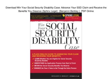 win your social security disability advance