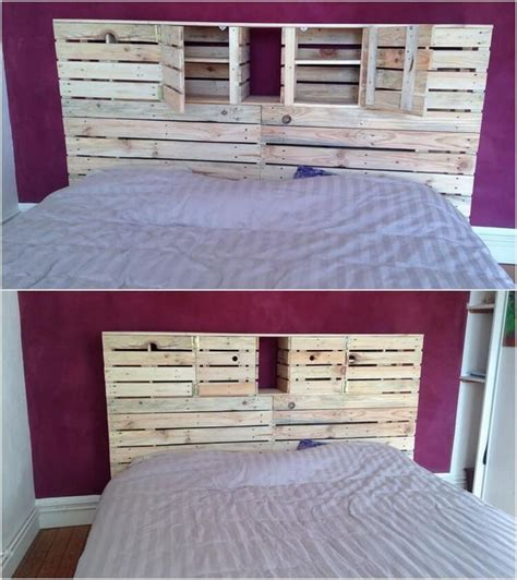 shipping pallet headboard best 25 headboards with storage ideas only on pinterest