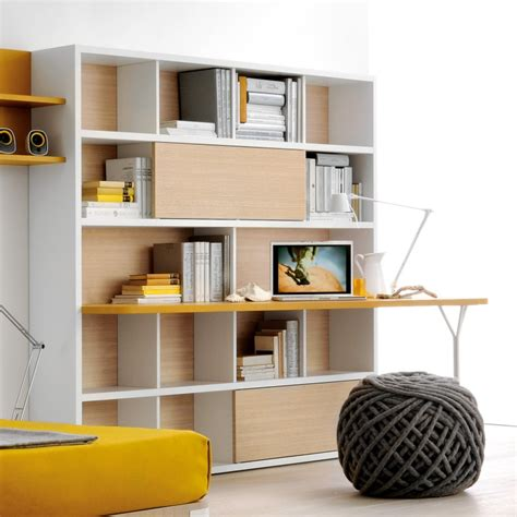 libreria con scrivania incorporata lazzereschi arreda