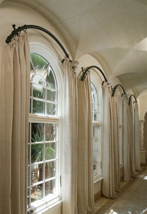 arched window curtain rod le migliori 25 idee su tende per finestra ad arco su