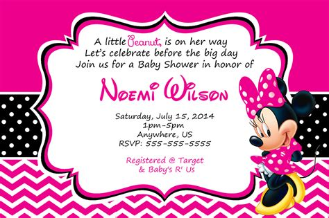 minnie mouse baby shower invitations free invitations