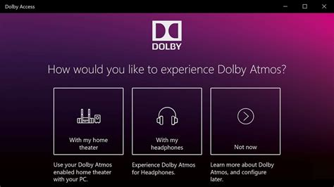 dolby access  windows     software