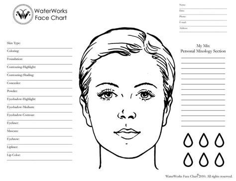 makeup chart template waterworks makeup system charts