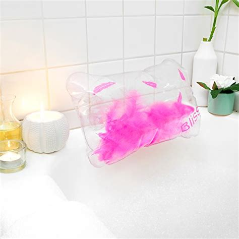 best bathtub pillow best inflatable bath pillow with feathers includes free
