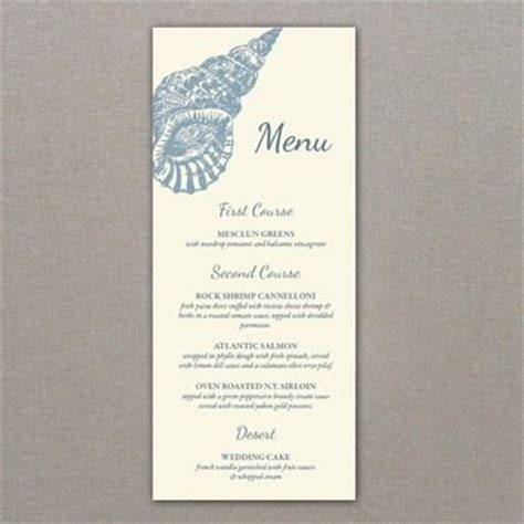 printable seashell invitation template menu template sea shell design receptions wedding and