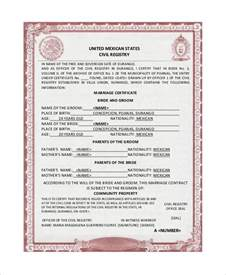 translation of mexican birth certificate to template mexican marriage certificate translation template