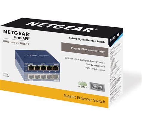 netgear prosafe 5 port netgear gs105 prosafe 5 port ethernet switch deals pc world