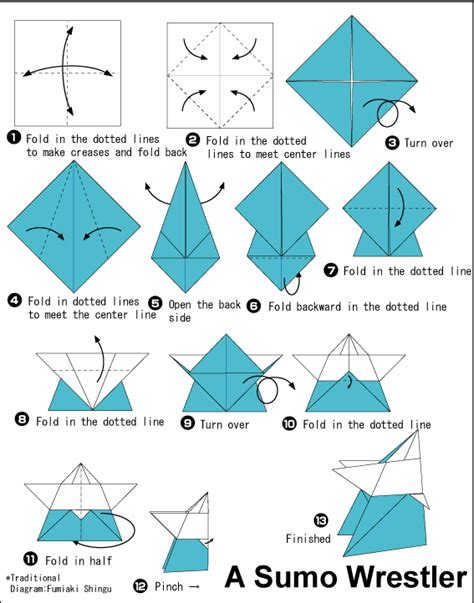 How To Make A Paper Sumo Wrestler - sumo easy origami for