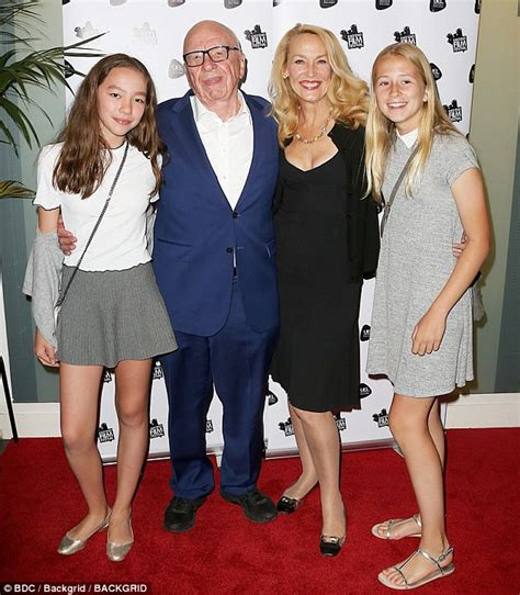 jerry hall model reality television star film actress jerry hall and rupert murdoch attend film premiere daily
